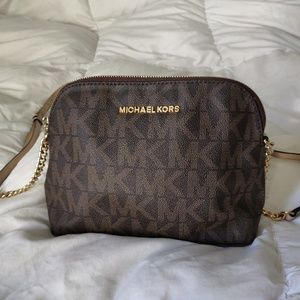 Michael Kors Monogram Dome Crossbody
